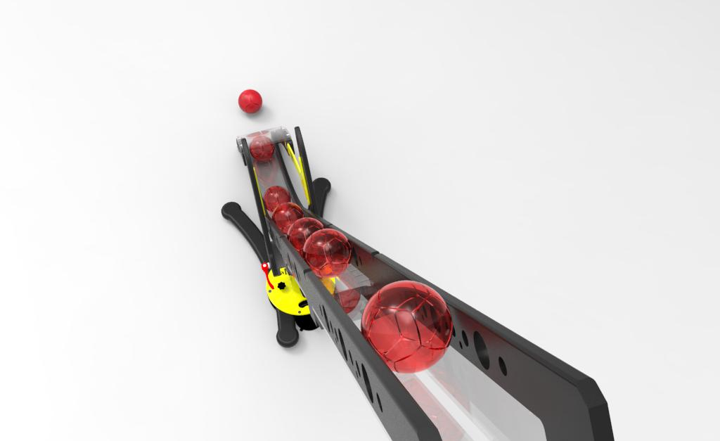 The Hammer Boccia Ramp by Gravity With Boccia Balls Render