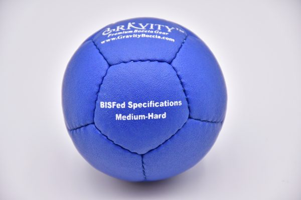 Medium-Hard Blue Gravity Boccia Ball