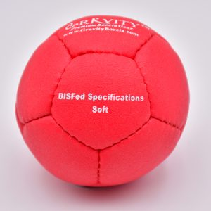 Soft Red Gravity Boccia Ball