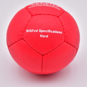 Hard Red Gravity Boccia Ball