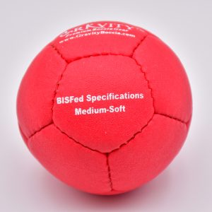 Medium-Soft Red Gravity Boccia Ball