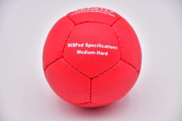 Medium-Hard Red Gravity Boccia Ball