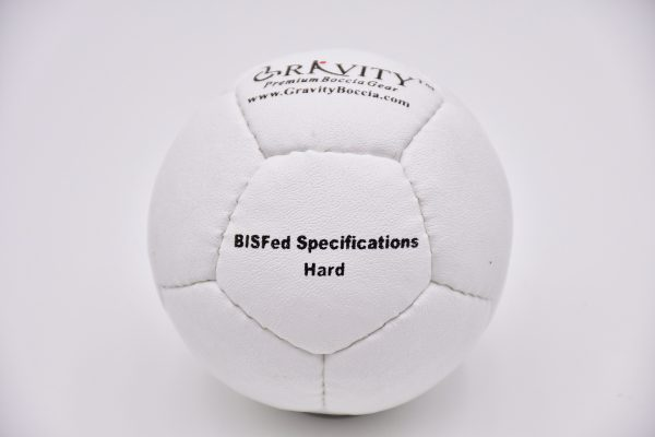 Hard White Gravity Boccia Ball