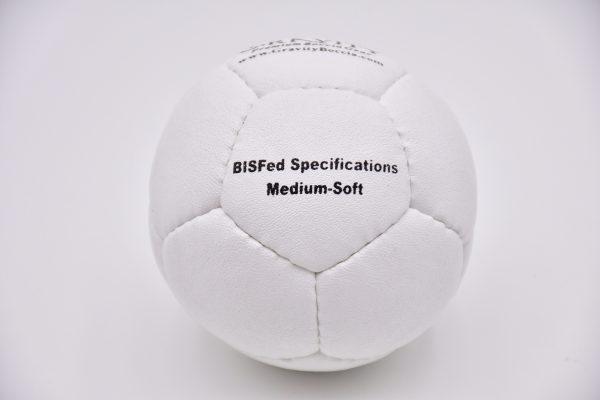 Medium-Soft White Gravity Boccia Ball